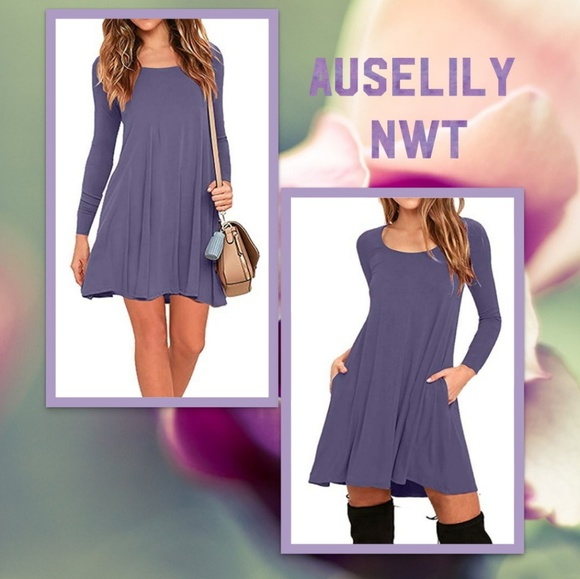 cf3d5fa78253 Auselily Dresses   Nwt Swing Dresspockets   Poshmark